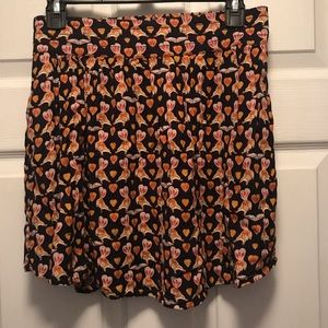 Urban Outfitters Cooperative Squirrel Print Skirt